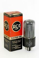NOS RCA 6V6GT Vintage Tube 1940's BLACK-PLATE SQUARE-GETTERS SMOKED-GLASS 98% GM