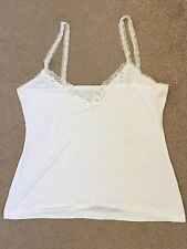 White Stretch Jersey Camisole Top Size 10 / 12