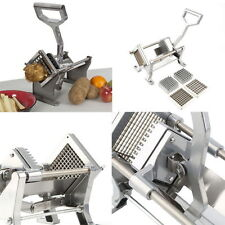 Manual Potato Chip French Fry Fruit Vegetable Commercial Cutter Slicer 3 Bl