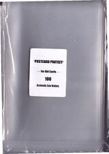 Pack of 100 New Clear Plastic Wallets for Modern Postcard storage 6.5 x 4.25ins