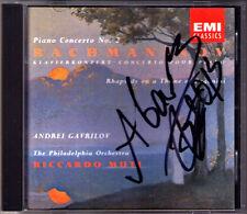 Andrei GAVRILOV Signiert RACHMANINOV Piano Concerto No.2 EMI CD Riccardo MUTI
