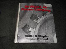DeVilbiss Air Power Company Nailer & Stapler Repair manual