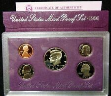 1991-S United States Mint Proof Set With Box And COA