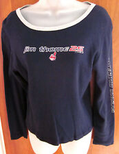 CLEVELAND INDIANS juniors med T shirt Jim Thome sexy longsleeves tee #25 Wahoo