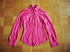 @ Miss Sixty @ figurbetonte Bluse langarm pink neon Size S Gr. 36 UK 10 US 8