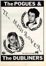 """21/3/87pg7 Single Advert 7x5"""" The Pogues & The Dubliners, The Irish Rover"""