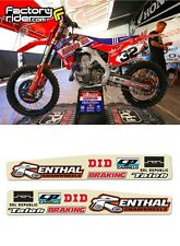 2004 - 2009 Honda CRF 250 TLD Swing Arm Stickers dirt bike graphics ENJOY MFG