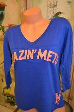 Victoria's Secret love pink t shirt New York Mets Amazin' XS