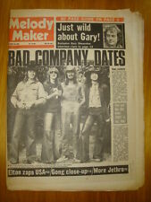 MELODY MAKER 1974 OCT 19 BAD COMPANY ELTON JETHRO TULL