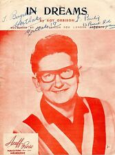 Original Issue Sheet Music: IN DREAMS (Roy Orbison) 6-sides Sound, respectable c