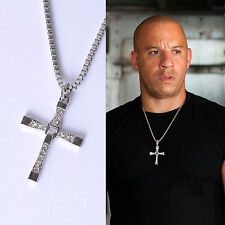 Fast And Furious Dominic Toledo Toretto Men's Cross Pendant Necklace New