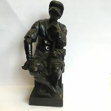 "Antique Reduction Sauvage Bronze Model Michelangelo's ""Lorenzo De Medici"" H 6.5"""