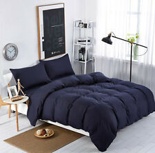 Solid Bedding Duvet Cover Set Quilt Cover Pillowcases Single Double King  Sizes