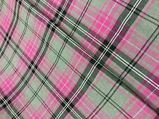 Tartan Fabric Poly/Viscose - Red Blue Pink Black - By The Metre