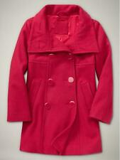New GAP Wool Long Jacket Dress Coat Peacoat Holiday Red Girl XL 14-16