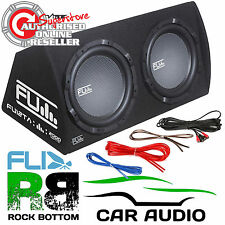 "FLI UNDERGROUND FU12TA 2000 WATTS TWIN 12"" AMPLIFIED CAR SUB SUBWOOFER BASS BOX"