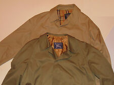 2 MEN'S BURBERRY PRORSUM TRENCH COATS! PALE GREEN W/LINER & KHAKI! ENGLAND! 44 L