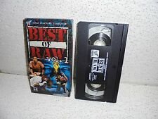 WWF Best of Raw Vol. 1 VHS Video Tape Out of Print 1999 Undertaker HBK WWE