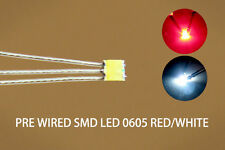 DT0605RW 20pcs Pre-soldered litz wired leads Bi-color RED/WHITE SMD Led 0605 NEW
