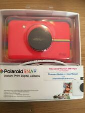Polaroid Snap Instant Print 10MP Camera - Red - + 1 X 10 Pack Zink Paper