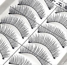 OS 10Pairs Long Cross False Eyelashes Makeup Natural Fake Thick Black Eye Lashes