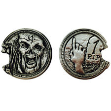 """Norse Foundry RPG D20 Adventure Coins """"1"""" Silver Piece Set of 10 - Zombie Style"""