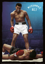 MUHAMMAD ALI FOIL POSTER (67x47cm) KNOCK OUT NEW ART