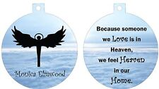 Personalized Ornament custom gift idea Angel in heaven memorial loss remebrance