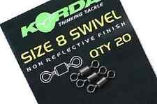 KORDA SIZE 8 SWIVELS, 20pcs FOR CARP / COARSE FISHING
