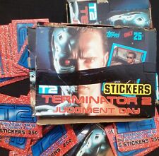 1991 Topps Terminator 2 Judgment Day Movie Stickers Wax Box - 48 Packs per Box