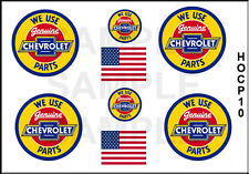 NEW PEEL AND STICK HO SCALE CHEVROLET PARTS GARAGE TRUCK MODEL DECALS HOCP10