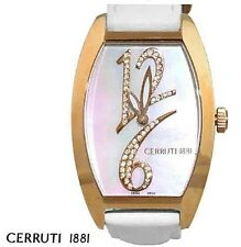 Temporary Reduction!  White CERRUTI Watch - Bold with Unique Numbering