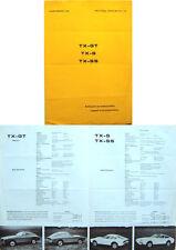 Fairthorpe TX-GT, TX-S & TX-SS Original Sales Brochure