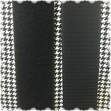"2"" Inch HOOK and LOOP Sew On Fastener 3 Yards Black FREE SHIPPING"