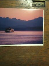 GREETING CARD WASHINGTON STATE FERRIES TWILIGHT CROSSING MV WALLA WALLA PUGET SO