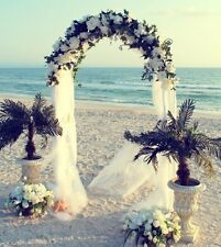 Wedding Arch Beach Garden Ceremony Bridal Prom Floral Decor Party Metal White