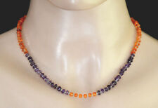 Ethnic Handmade Ladies Sterling Silver Necklace Carnelian Amethyst Beautiful Nc9