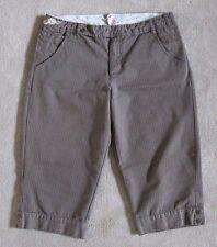 Junior's xhilaration Taupe Stripes Khaki Capri Pants ~ 11 (30X17)