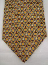 Brooks Brothers Basics 100% Silk Tie Mens Necktie Gold Made in USA
