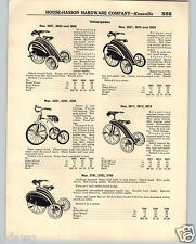 1936 PAPER AD Fancy Streamlined Velocipedes Tricycle Large Skirts Pedal Cars
