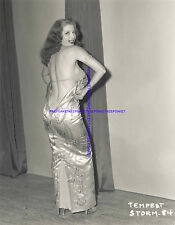 STRIPPER TEMPEST STORM OPENING HER GOWN BEAUTIFUL BACKSIDE S-TSTORM13