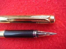 PARKER 180 GOLD PLATED USA FPEN AEROMATIC FILL COMES IN PARKER BOX GOLD NIB M-X