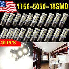 1156 7506 1003 1141 LED Light 18 SMD Bulbs Interior RV Camper Pure White 20-pack
