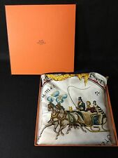 Pre-Owned HERMES Auth HERMES Big Scarf 100% Silk Plumes et Grelots Box Horse F/S