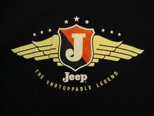 "Jeep ""The Unstoppable Legend"" Car Truck Brand Logo Black T Shirt M"
