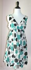 Hazel Boutique Dress M L 6 8 10 Retro Mod Polka Dot Print Bubble Hem Skirt New