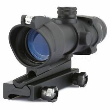 Tactical Optical Reticle 4x32 Sight Scope Crosshair for 20mm Rail Mount Hunting