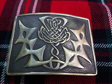 TC Men's Kilt Belt Buckle Celtic Knot Thistle Antique Finish/Belt Buckle Antique