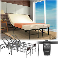 Queen Size Electric Adjustable Head Lift Bed Frame Remote Control Foundation