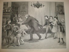 A romp after dinner Towneley Green 1887 old print blindman's buff